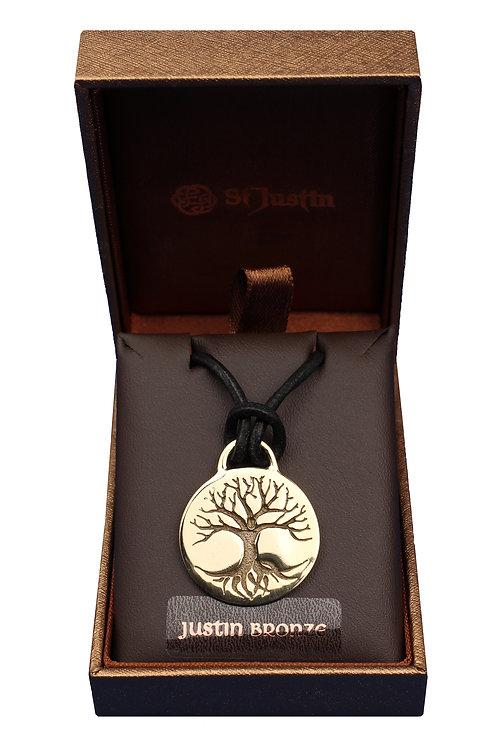 Bronze Tree of Life Disc Pendant