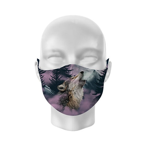 Wolf Reusable Adult Face Covering