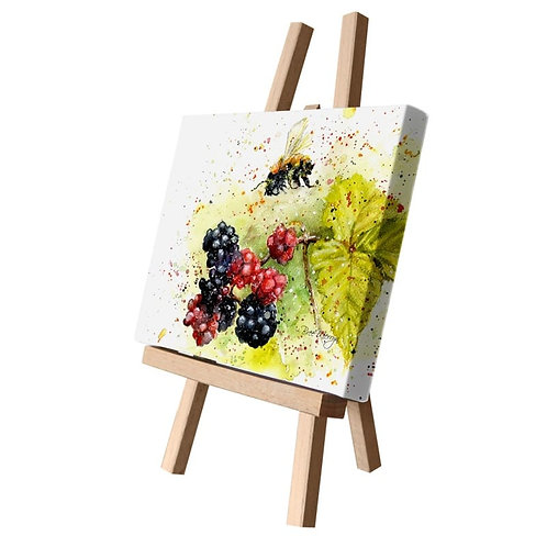 Blackberry Bee Canvas Cutie