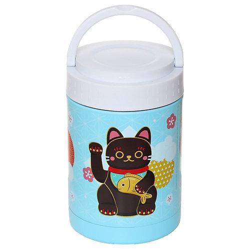 Maneki Neko - Lucky Cat - Thermal Lunch Pot