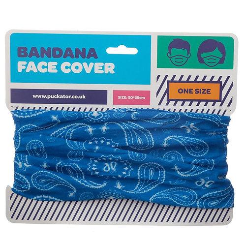 Blue Paisley Multi-functional Bandana