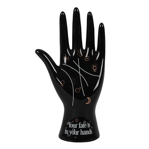 Black Ceramic Palmistry Hand