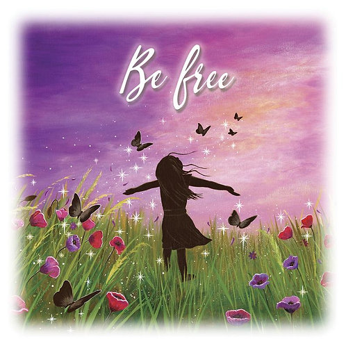 """Be Free"" Fridge Magnet"