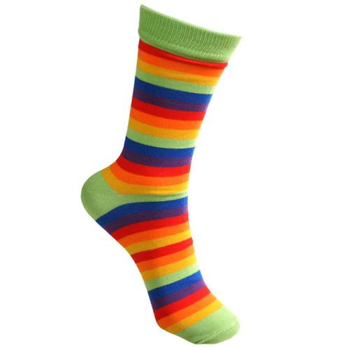 """Rainbow Stripes"" Bamboo Socks"