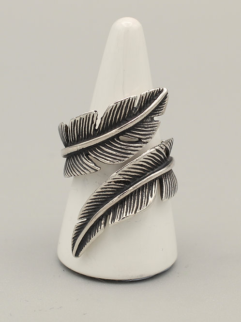 Feather Wrap-around Ring