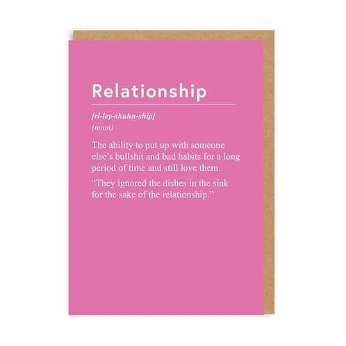 """Relationship"" Card"