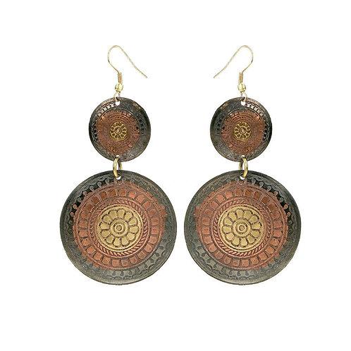 Copper Circles Earrings