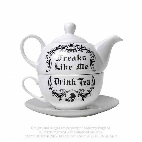 """""""Freaks Like Me Drink Tea"""" Tea Set"""