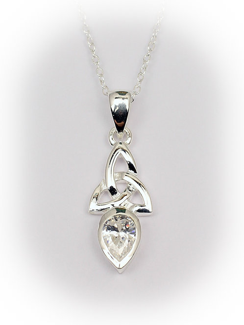 April - Diamond Celtic Pendant