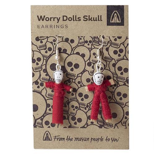 Worry Doll Skull Earrings