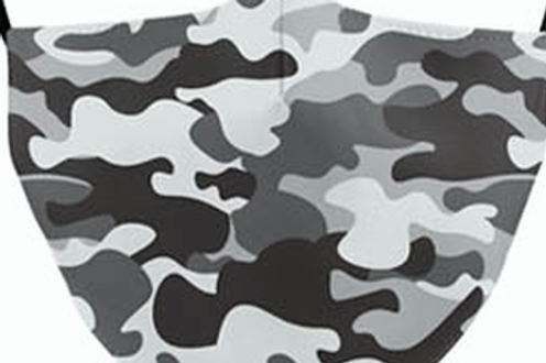 Urban Camo Reusable Adult Face Covering with Filter Pouch
