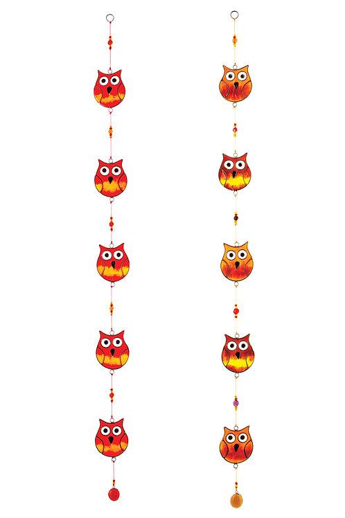 String of 5 Owls Suncatcher