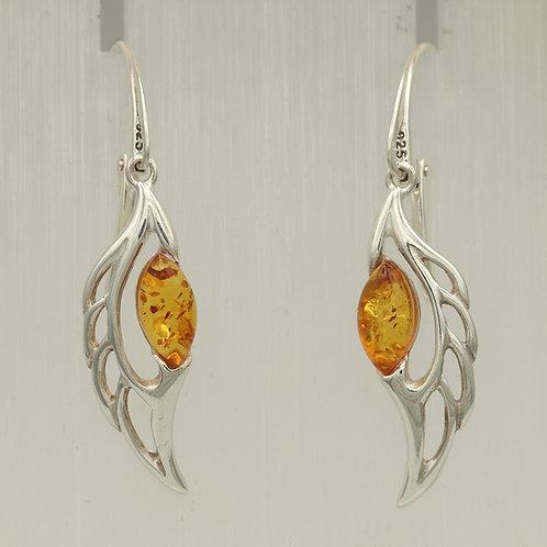 Amber Angel Wing Earrings