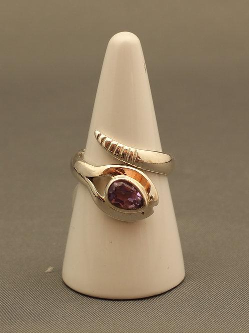 Amethyst Snake Ring