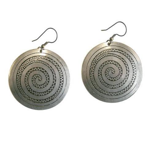 Spiral Domed Earrings