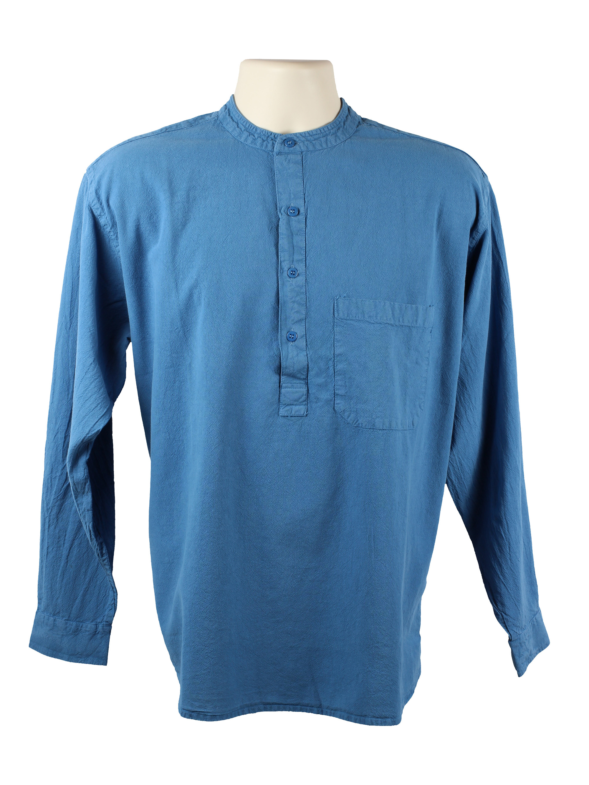 Blue Grandad Shirt