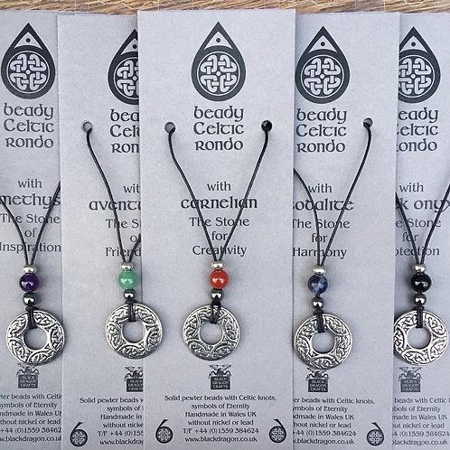 Celtic Beady Rondo Necklace 5 Varieties