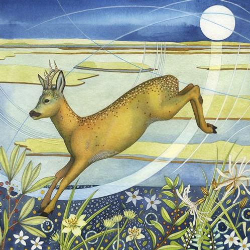 """""""Leaping Deer"""" Card"""