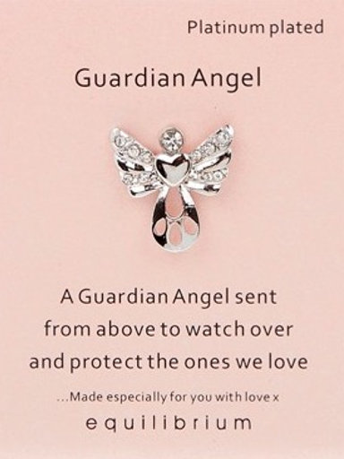 """""""Protect the Ones We Love"""" Guardian Angel Pin"""