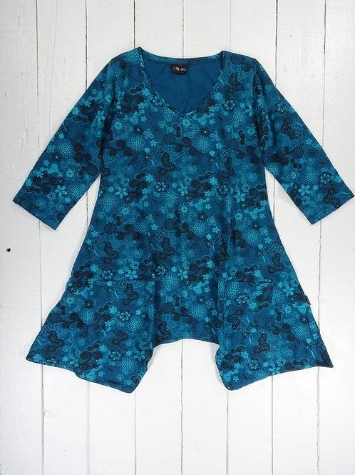 3/4 Sleeve Short Dress - 100% Cotton
