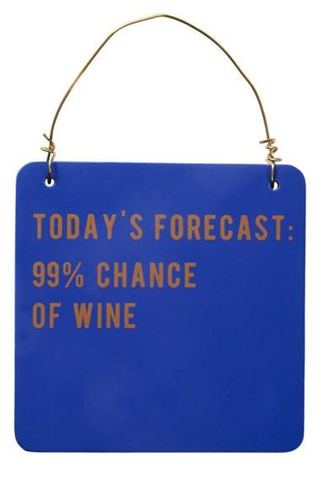 99% Chance of Wine...Sign
