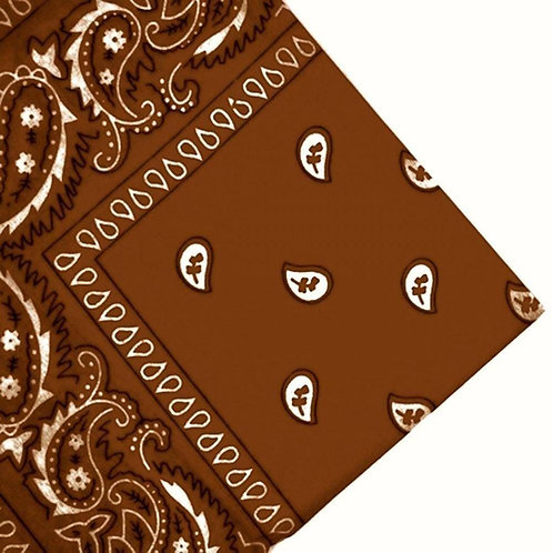 Brown Paisley Bandana