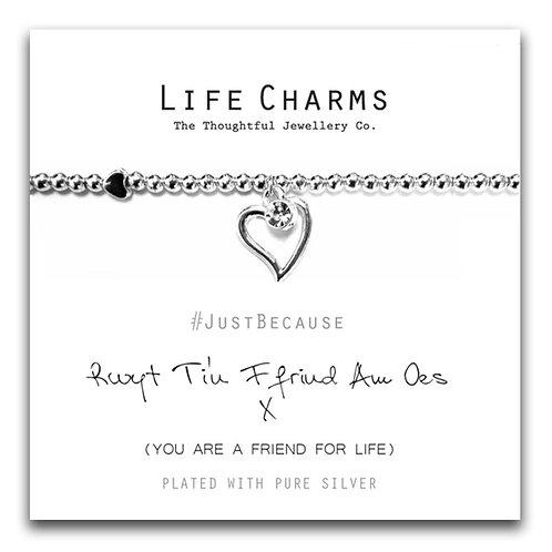 Rwyt Ti'n Ffrind Am Oes Life Charm Bracelet