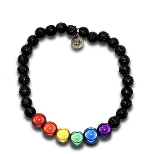 Black Lava Rainbow Holographic Bracelet