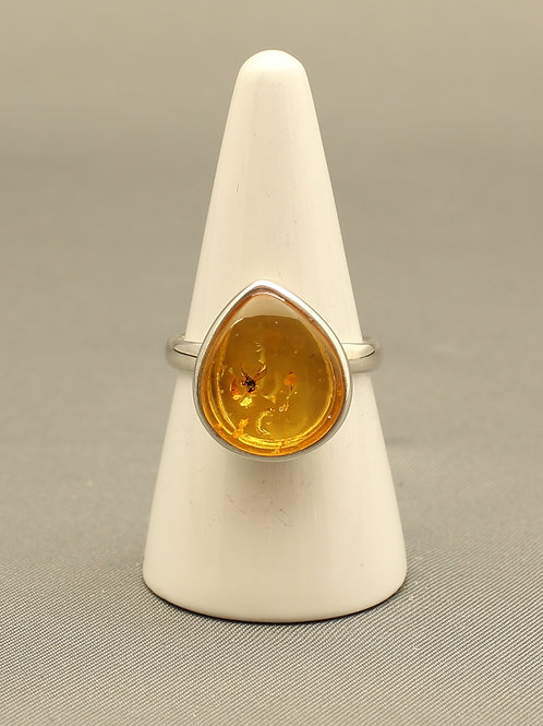 Insect Amber Ring