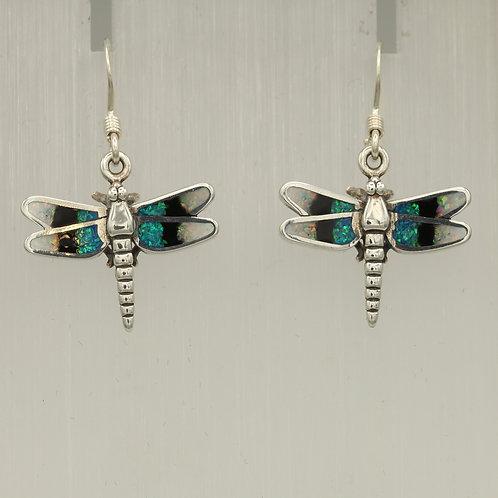 Gilson Opal Dragonfly Earrings