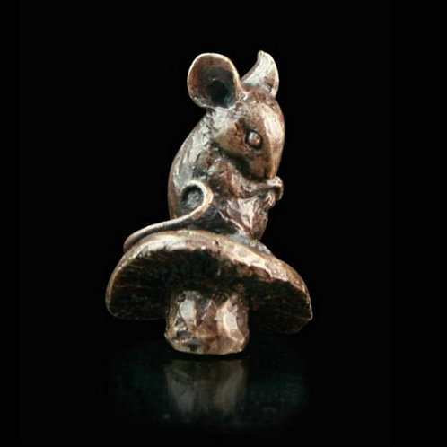 Mouse Solid Bronze Miniature