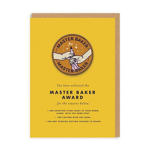 """Master Baker"" Card with Patch"