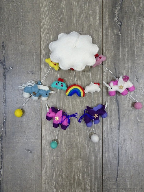 Unicorns and Rainbows Mobile