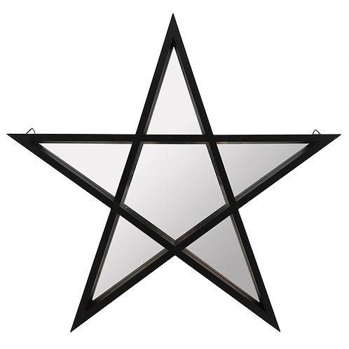 Black Framed Pentacle Mirror