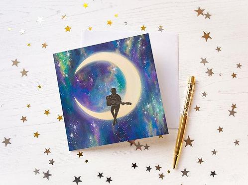 """Moon Song"" Greetings Card"