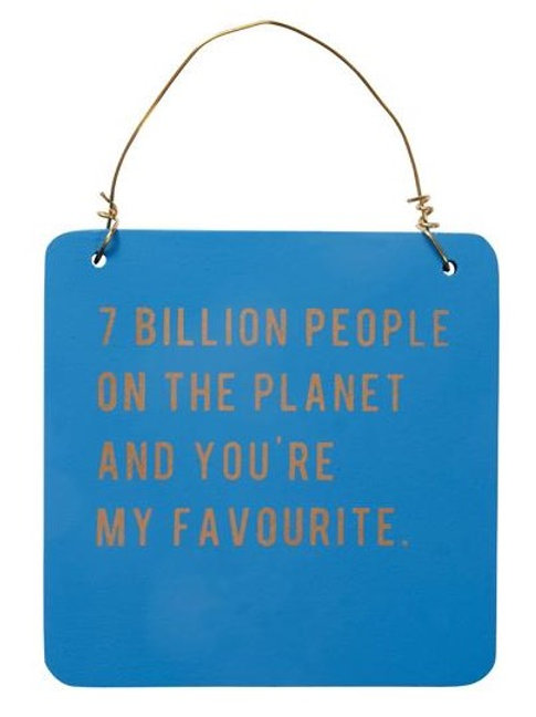 7 Billion People...Sign