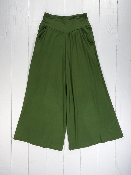 Long Wide Leg Trousers - 100% Viscose