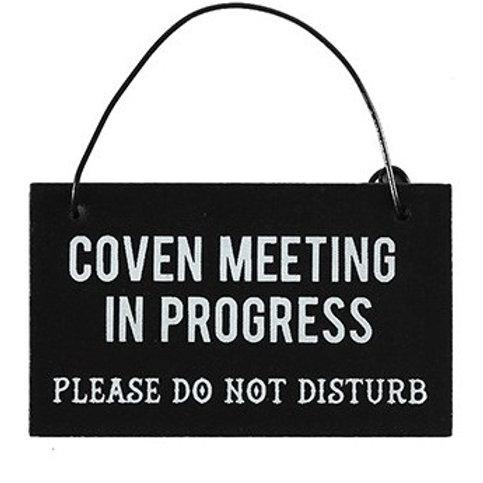 """Coven Meeting"" Mini Sign"