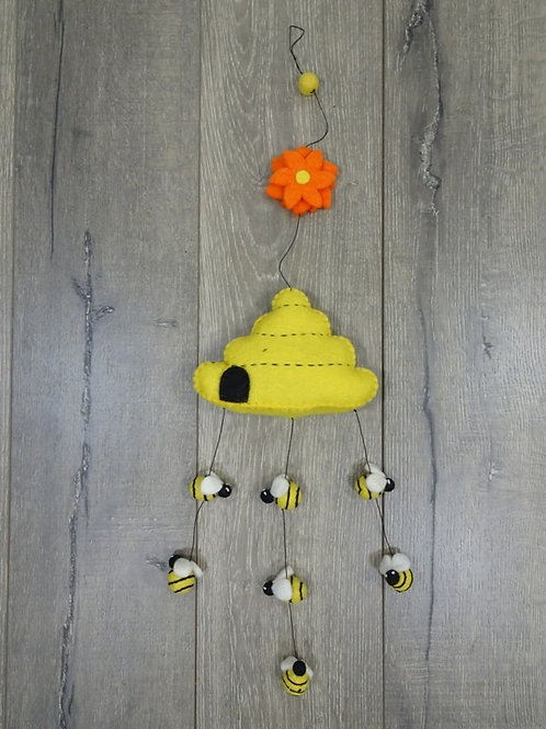 Bees and Beehive felt Mobile
