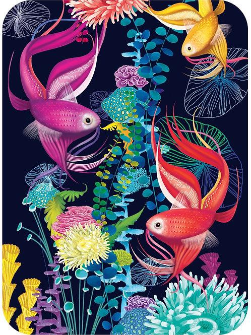 """Tropical Fish"" Card"