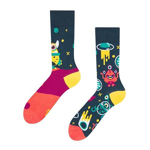 Aliens Good Mood Socks