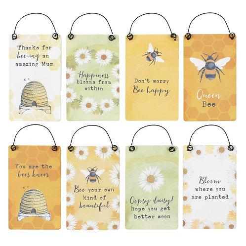 Bee Happy Mini Signs