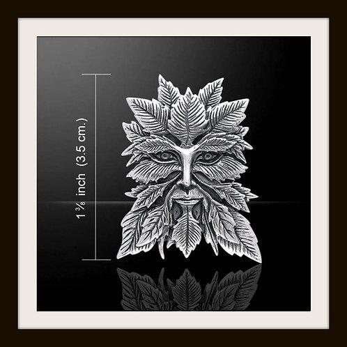 Sterling Silver Stunning Greenman Pendant