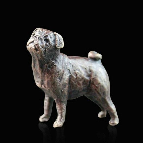 Pug Bronze Miniature