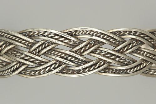 Celtic Silver Cuff Bangle