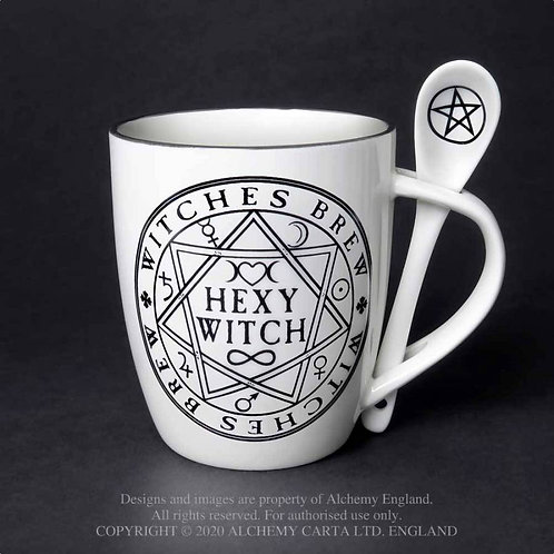"""""""Hexy Witch"""" Mug and Spoon Set"""