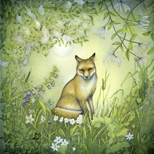 """Fox In The Moonlight"" Card"