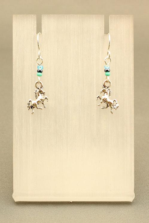 Unicorn Beaded Earrings