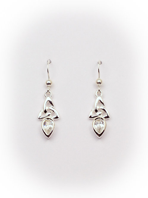 April - Diamond Celtic Earrings
