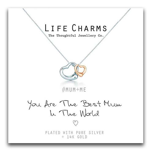 Best Mum Life Charm Necklace